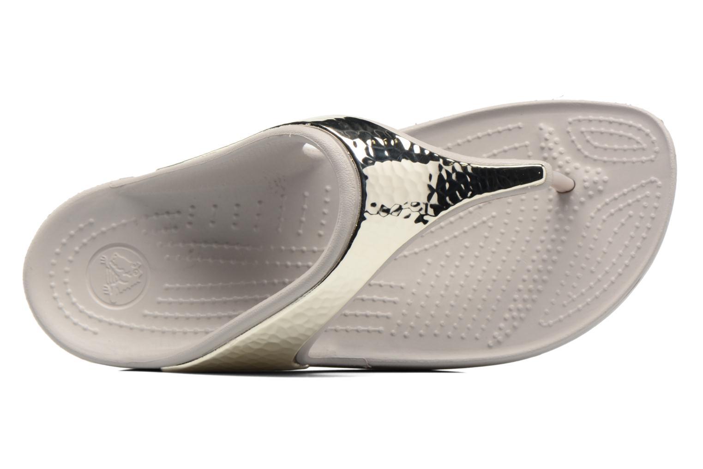 Tongs Crocs Crocs Sloane Embellished Flip Argent vue gauche