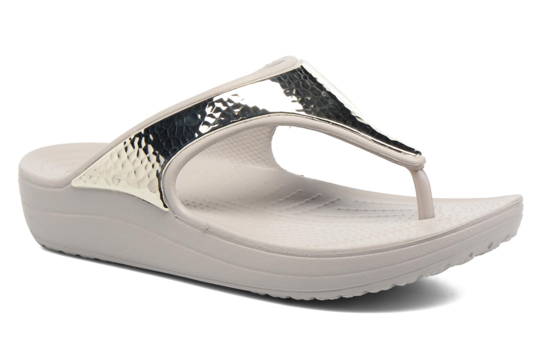Tongs Crocs Crocs Sloane Embellished Flip Argent vue détail/paire