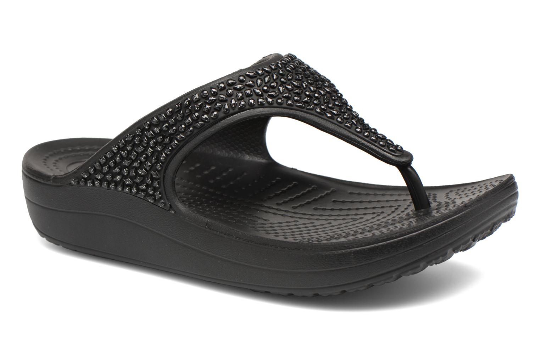 Crocs - Damen - Crocs Sloane Embellished Flip - Zehensandalen - schwarz roDlpaqW2