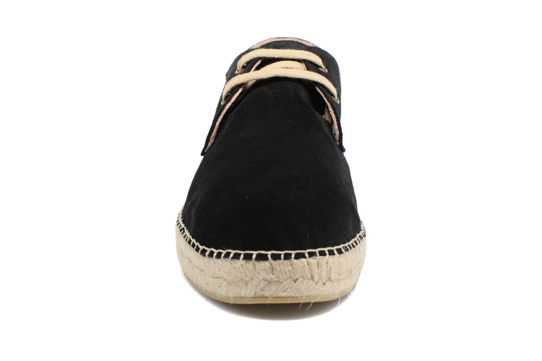 Espadrilles La maison de l'espadrille 1018 Noir vue portées chaussures