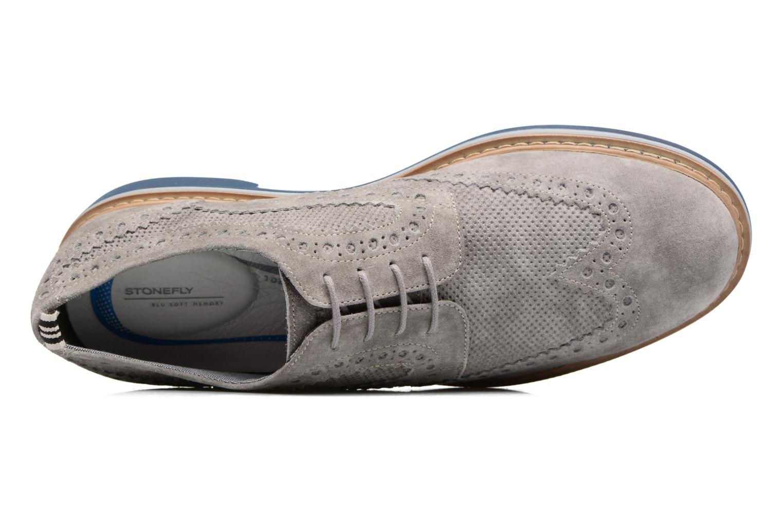 Zapatos con cordones Stonefly Alby 1 Gris vista lateral izquierda
