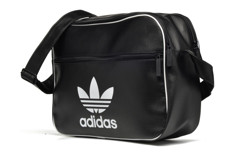 Herrentaschen Adidas Originals AIRLINER AC CL Besace schwarz schuhe getragen