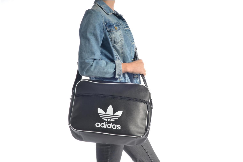Herrentaschen Adidas Originals AIRLINER AC CL Besace schwarz ansicht von oben