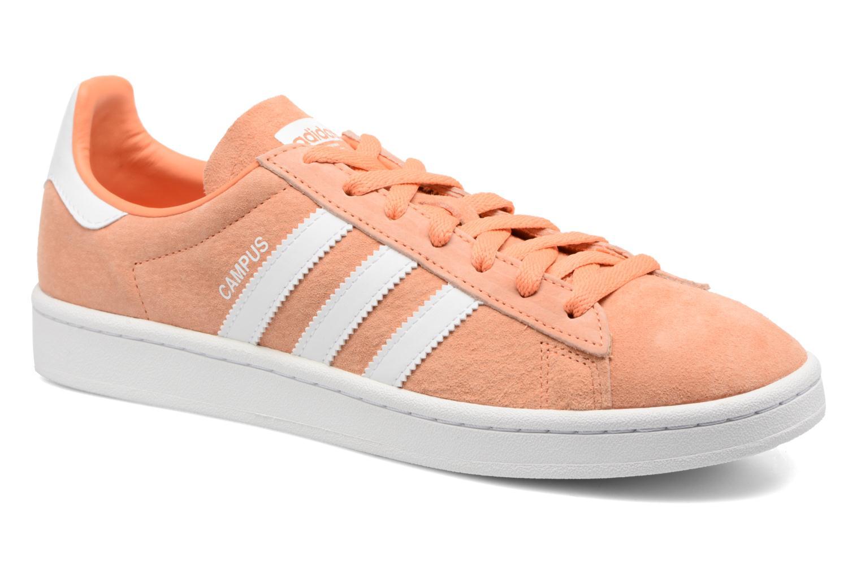 Baskets Adidas Originals Campus Orange vue détail/paire