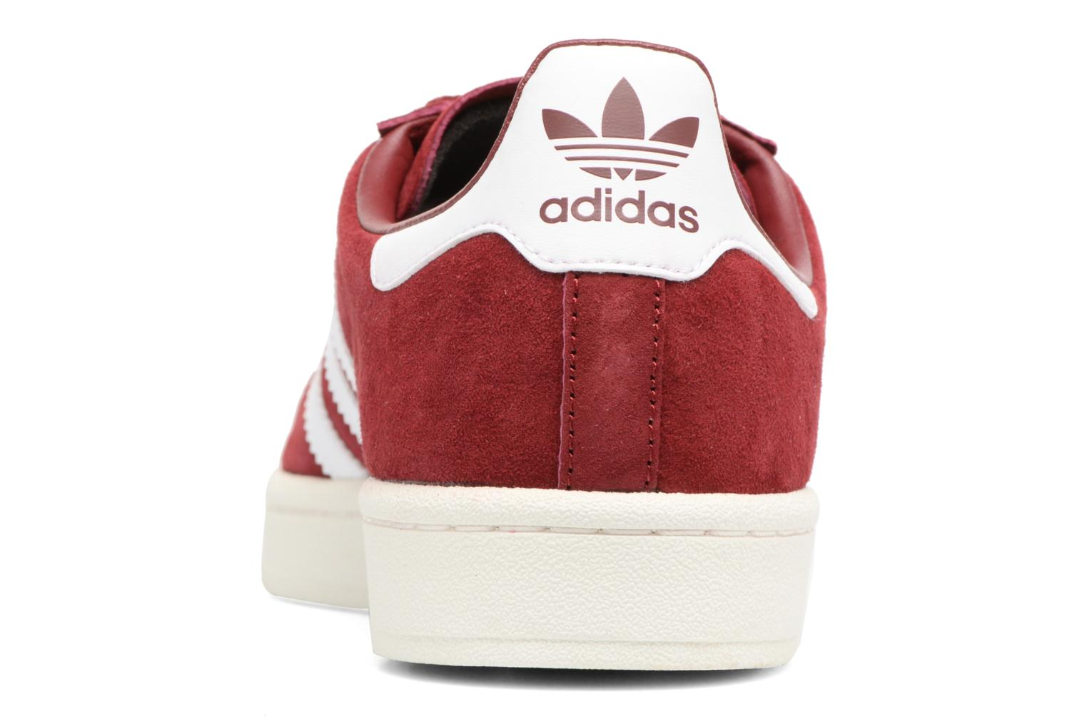 Baskets Adidas Originals Campus Rouge vue droite