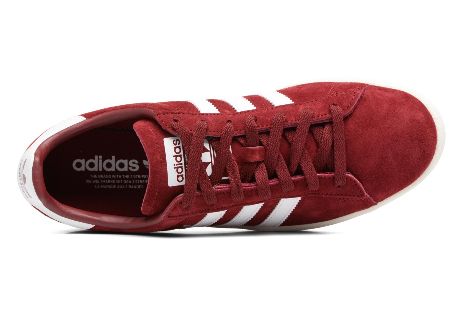 Baskets Adidas Originals Campus Rouge vue gauche