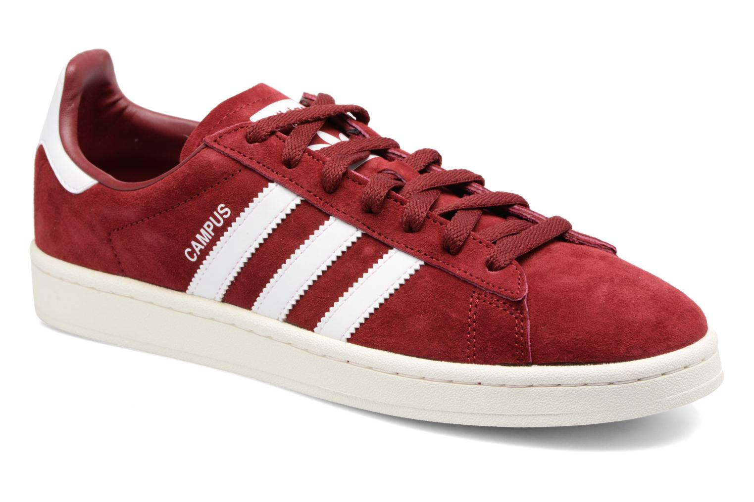 Baskets Adidas Originals Campus Rouge vue détail/paire