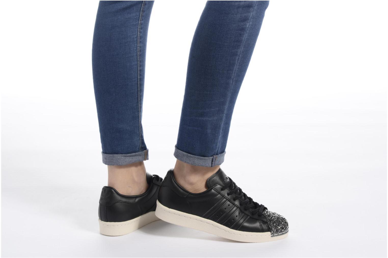 Sneaker Adidas Originals Superstar 80S 3D Mt W schwarz ansicht von unten / tasche getragen