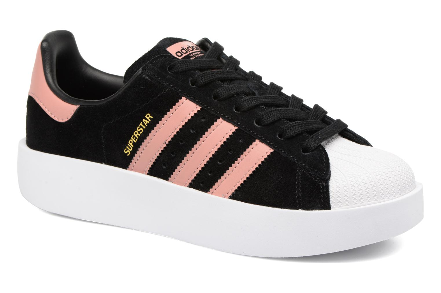 Baskets Adidas Originals Superstar Bold W Noir vue détail/paire