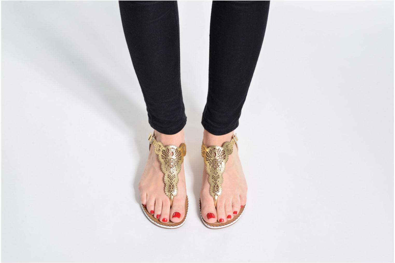 Sandales et nu-pieds Dune London Lill Or et bronze vue bas / vue portée sac