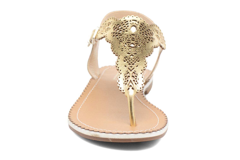 Sandales et nu-pieds Dune London Lill Or et bronze vue portées chaussures