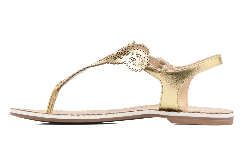 Sandales et nu-pieds Dune London Lill Or et bronze vue face