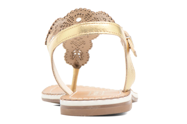 Sandales et nu-pieds Dune London Lill Or et bronze vue droite