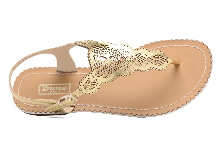 Sandales et nu-pieds Dune London Lill Or et bronze vue gauche