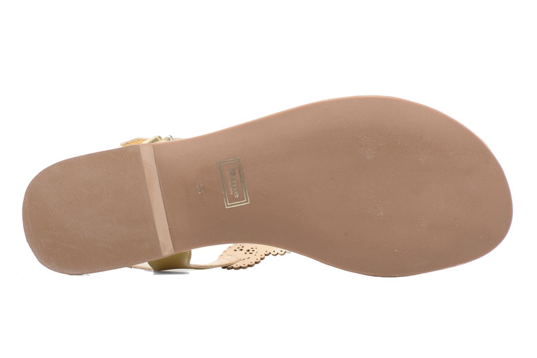 Sandales et nu-pieds Dune London Lill Or et bronze vue haut