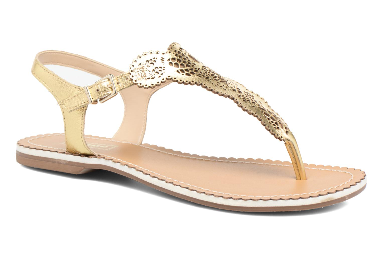 Sandales et nu-pieds Dune London Lill Or et bronze vue détail/paire