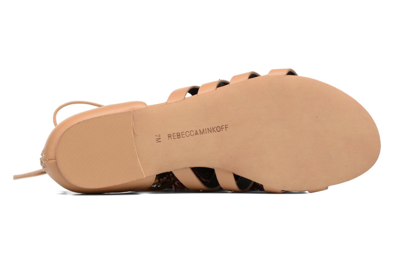 Sandales et nu-pieds Rebecca Minkoff Eve Beige vue haut