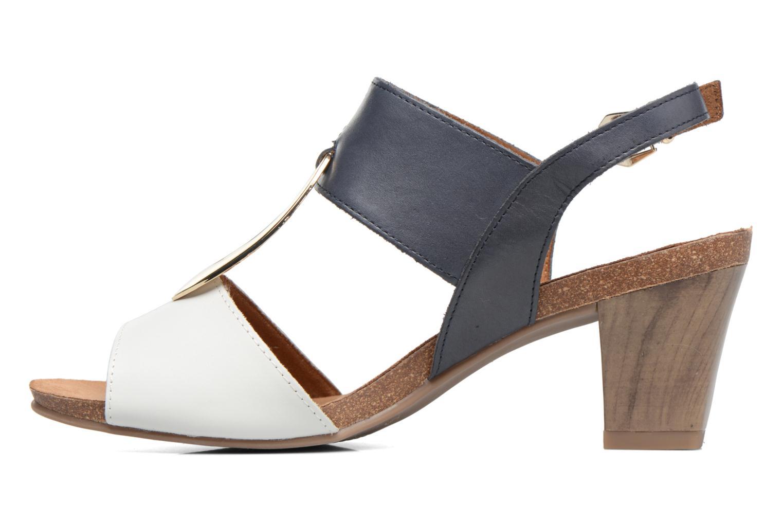 Sandales et nu-pieds Caprice Chenoa Bleu vue face