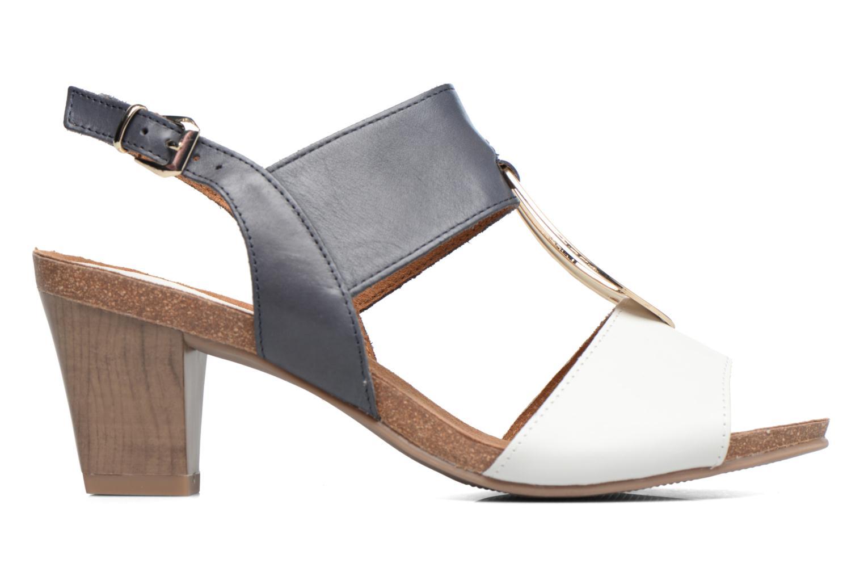 Sandales et nu-pieds Caprice Chenoa Bleu vue derrière