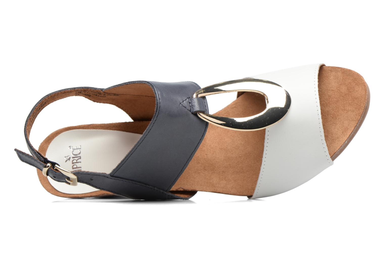 Sandales et nu-pieds Caprice Chenoa Bleu vue gauche