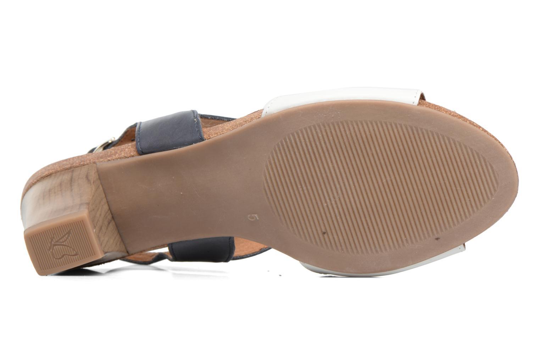 Sandales et nu-pieds Caprice Chenoa Bleu vue haut