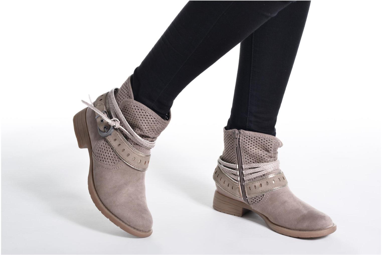 Bottines et boots Jana shoes Nani Beige vue bas / vue portée sac