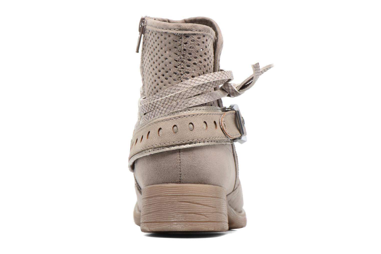 Bottines et boots Jana shoes Nani Beige vue droite