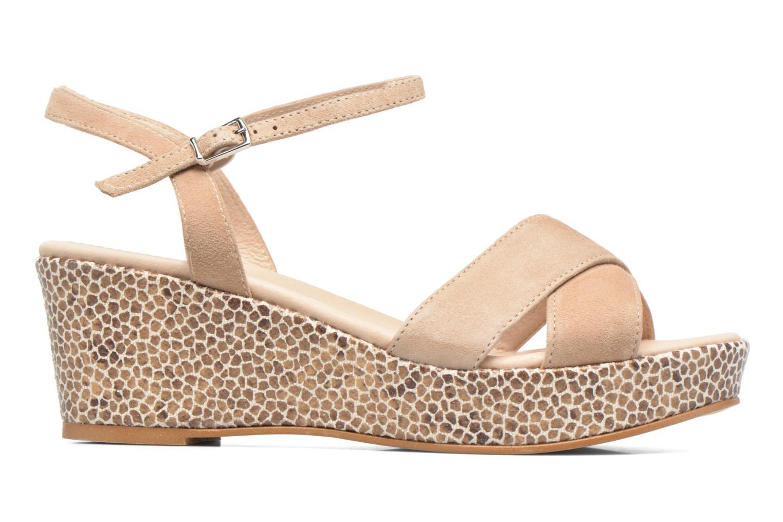 Sandales et nu-pieds HE Spring Lilou Beige vue derrière