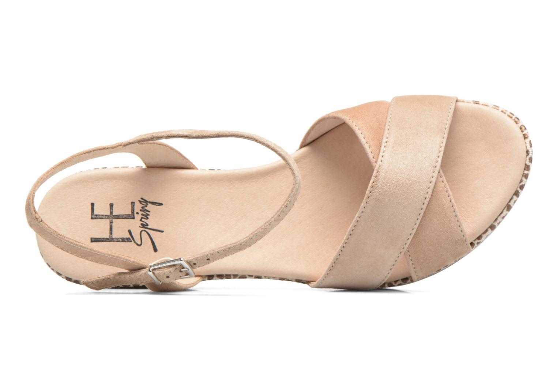 Sandales et nu-pieds HE Spring Lilou Beige vue gauche