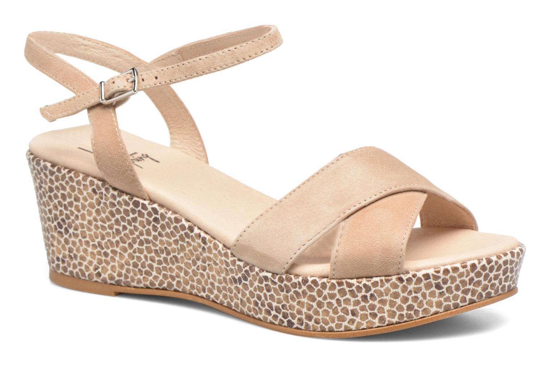 Sandales et nu-pieds HE Spring Lilou Beige vue détail/paire