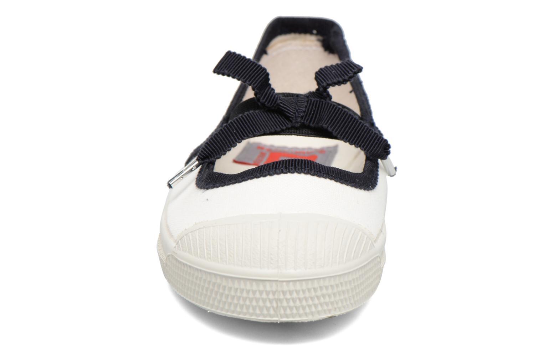 Ballerines Bensimon Tennis Babies Gros Grain E Blanc vue portées chaussures