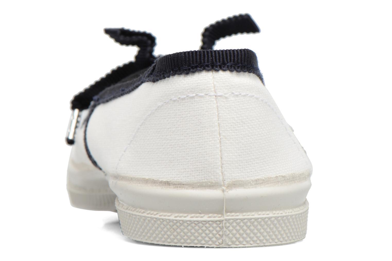 Ballerines Bensimon Tennis Babies Gros Grain E Blanc vue droite