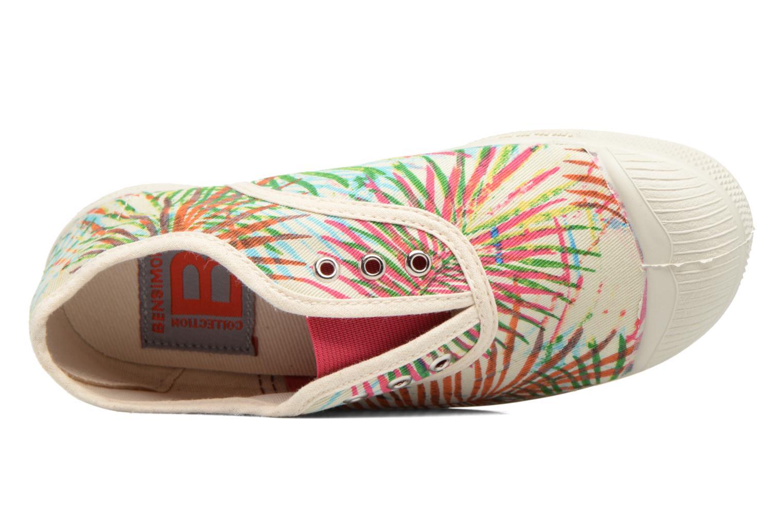 Baskets Bensimon Tennis Elly Feuilles Exotiques E Multicolore vue gauche