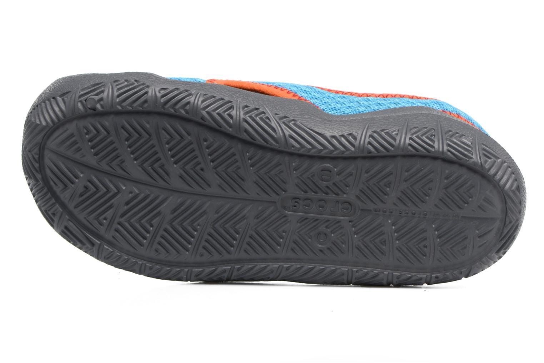 Sandales et nu-pieds Crocs Swiftwater Sandal Kids Bleu vue haut