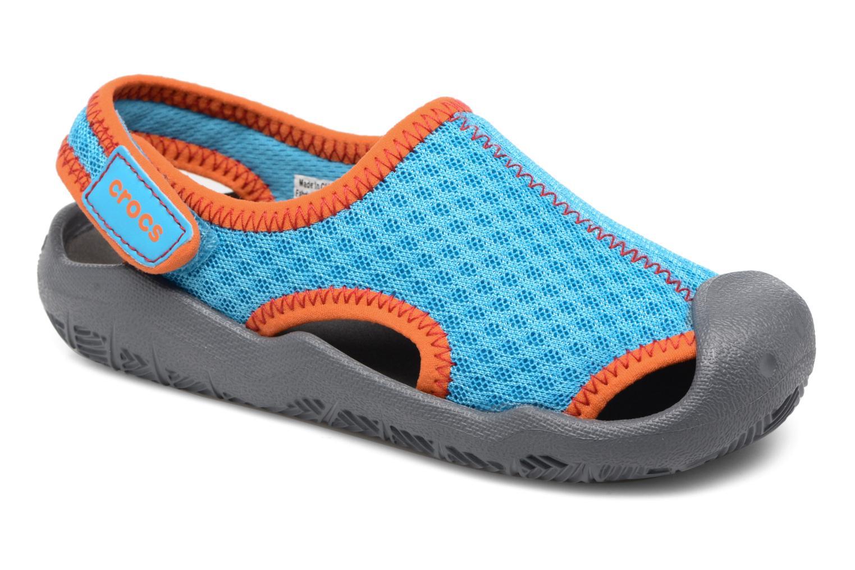 Sandales et nu-pieds Crocs Swiftwater Sandal Kids Bleu vue détail/paire