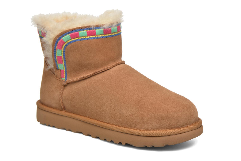 Bottines et boots UGG ROSAMARIA EMBROIDERY Marron vue détail/paire