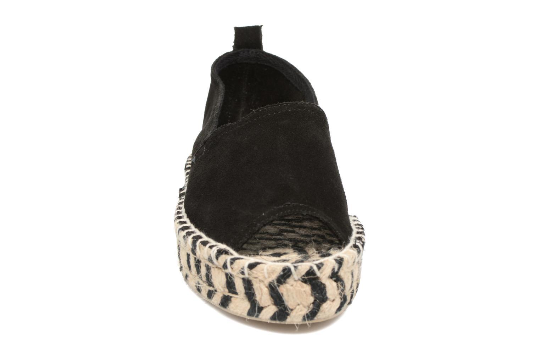 Espadrilles Colors of California Zebra Noir vue portées chaussures