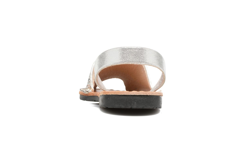 Sandales et nu-pieds Colors of California Mila Argent vue droite