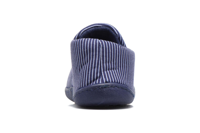 Chaussons Isotoner Mocassin Suédine E Bleu vue droite