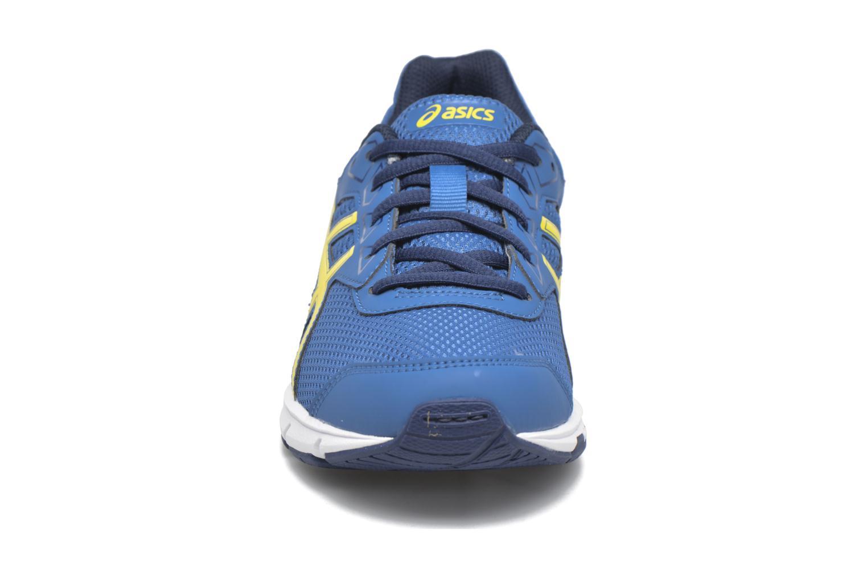 Baskets Asics Gel Galaxy 9 GS Bleu vue portées chaussures