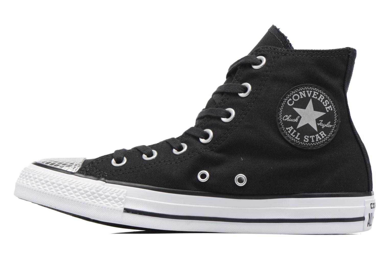 Sneakers Converse Chuck Taylor All Star Hi Metallic Toecap Zwart voorkant