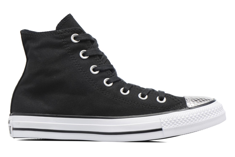Sneakers Converse Chuck Taylor All Star Hi Metallic Toecap Zwart achterkant