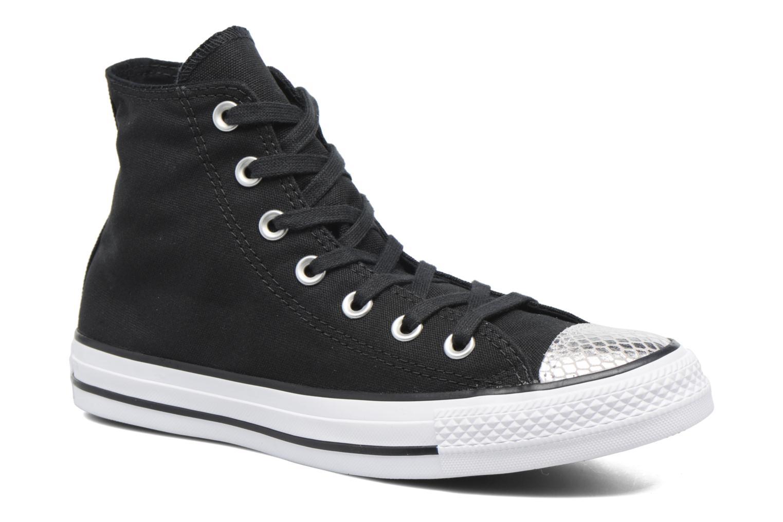 Sneakers Converse Chuck Taylor All Star Hi Metallic Toecap Zwart detail