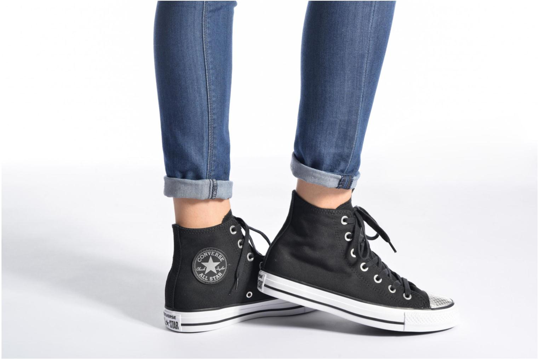 Sneakers Converse Chuck Taylor All Star Hi Metallic Toecap Bianco immagine dal basso