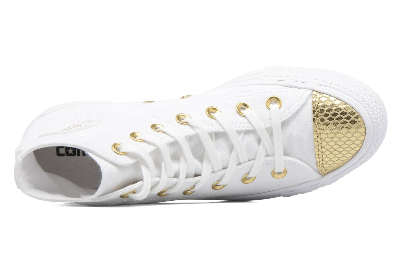 Sneakers Converse Chuck Taylor All Star Hi Metallic Toecap Bianco immagine sinistra