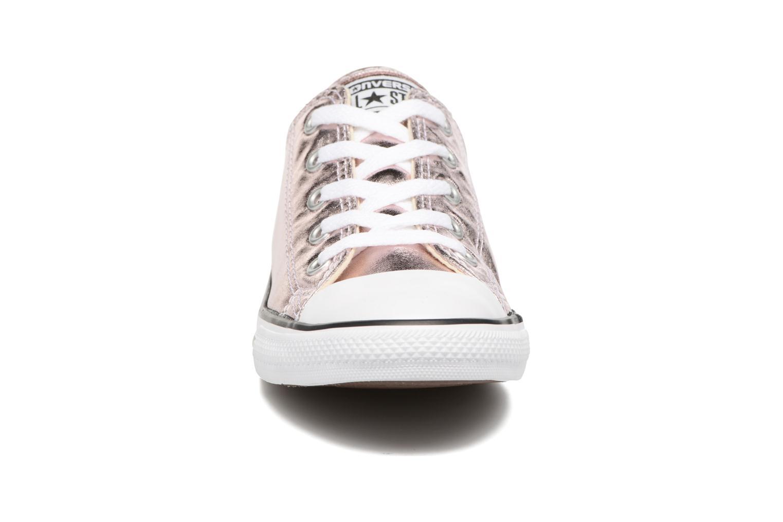 Baskets Converse Chuck Taylor All Star Dainty Ox Metallics Rose vue portées chaussures