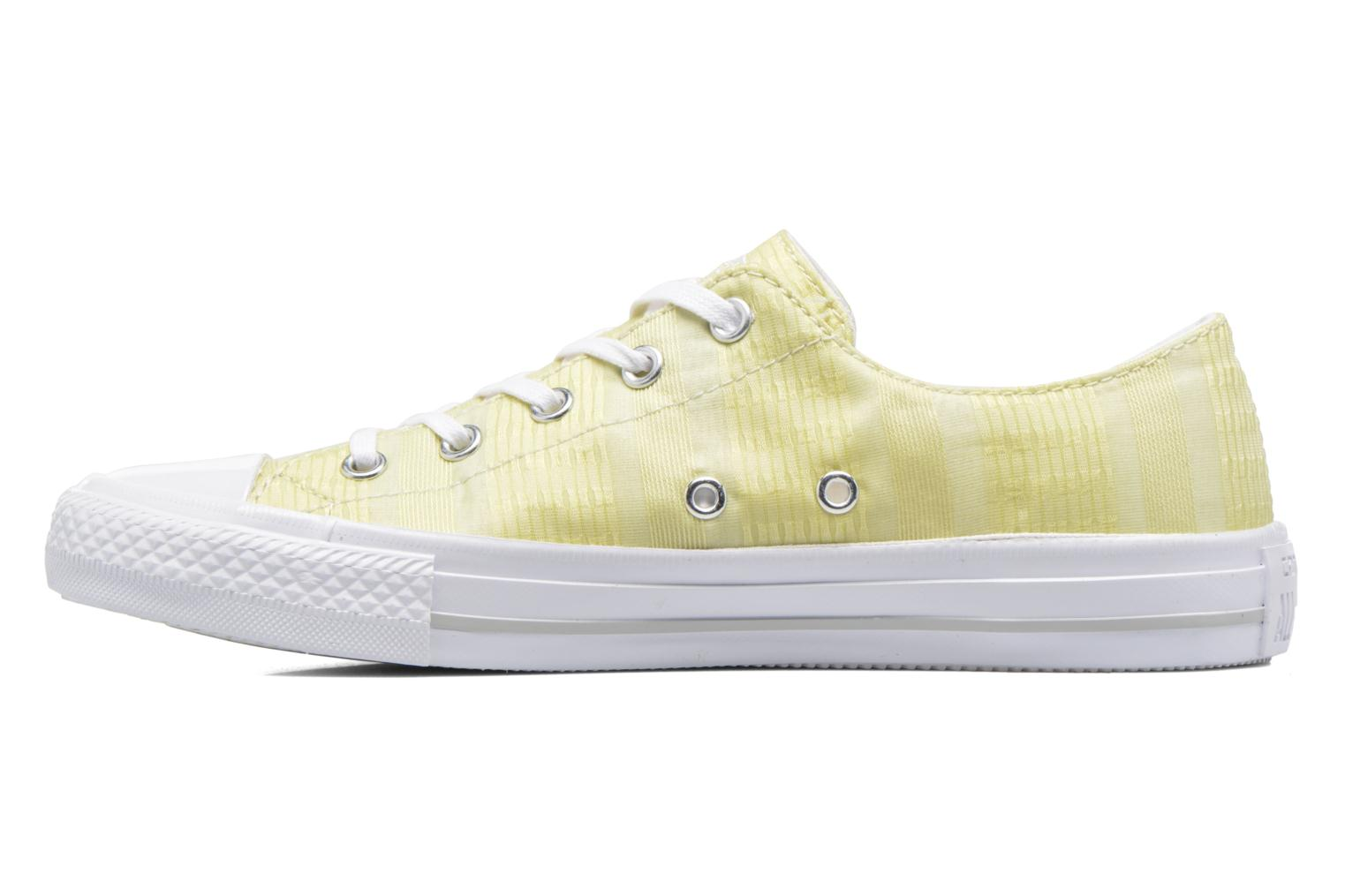Deportivas Converse Chuck Taylor All Star Gemma Ox Engineered Lace Amarillo vista de frente