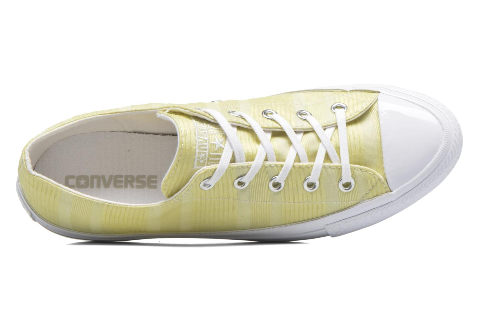 Baskets Converse Chuck Taylor All Star Gemma Ox Engineered Lace Jaune vue gauche