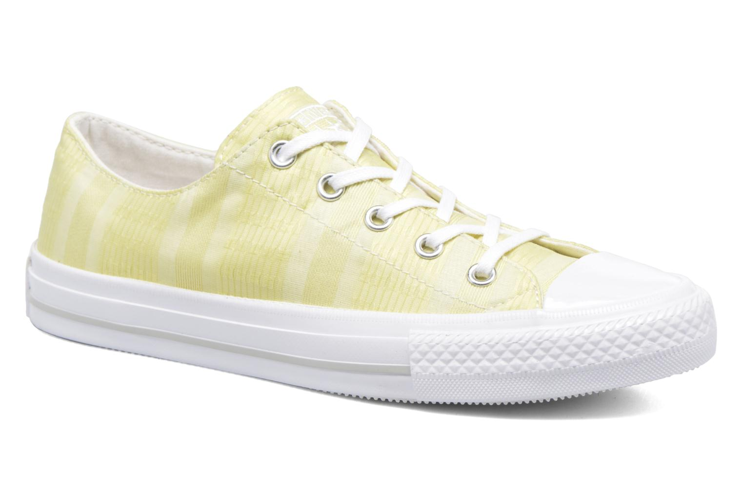 Baskets Converse Chuck Taylor All Star Gemma Ox Engineered Lace Jaune vue détail/paire