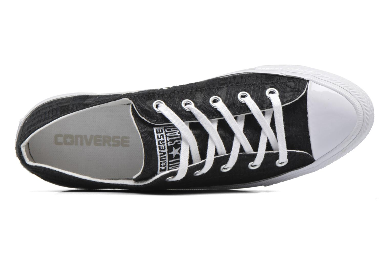 Deportivas Converse Chuck Taylor All Star Gemma Ox Engineered Lace Negro vista lateral izquierda